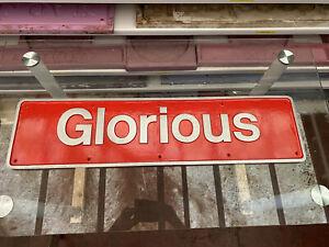 British Rail Locomotive Nameplate Glorious Resin Replica