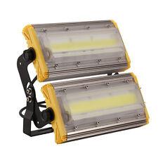 100W LED Strahler Fluter Außen Flutlicht Scheinwerfer Baustrahler IP66 Warmweiβ