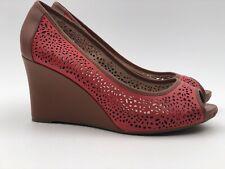 Rockport Walkability Adiprene Laser Cut Wedge Open Toe Shoes Size 8m Pink