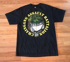 Vintage WWF WWE John Cena Chain Gang Assault Battalion Black T-Shirt sz L