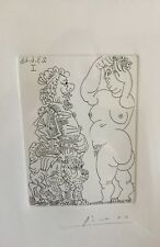"""Picasso Etching Signed in Pencil, Providence, """"Grosse Prostituee Et Homme"""""""