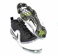 Nike Force Zoom Trout 4 Black White Mens Baseball Cleats [917837-001] SZ 11.5