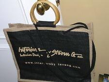 STEVEN G INTERIOR DESIGN TOTE BAG CANVAS WOOD BLACK free Steven G t-shirt m blk