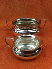 More details for antique art deco  silver plate epns cream jug & sugar bowl  c1930