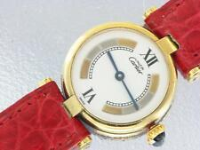 Must de Cartier Ladies Gold Plated Silver Watch Cartier Vermeil Quartz Watch