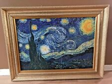 Museum Brushstrokes Van Gogh The Starry Night Painting Oil Canvas Frame 935/980