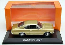 Minichamps Opel Rekord C Coupé - Modell Bj. 1967-1972, M. 1:43, goldmetallic