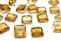Fine Grade Citrine Square Natural Gemstone Loose Gem Crystal Stone DIY Jewelry