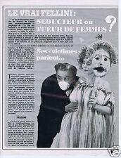 Coupure de presse Clipping 1980 Frederico Fellini  (7 pages)