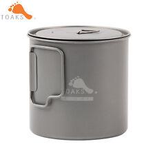 TOAKS POT-650-L 650ml Coffee Mugs Titanium Camping Drinkware Titanium Mug