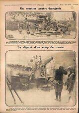 Artillery Austro Hungary Canon Gun Artillerie Armée Française Poilus WWI 1916