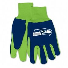 SEATTLE SEAHAWKS ADULT TWO TONE SPORT UTILITY GLOVES NEW & OFFICIALLY LICENSED