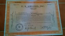 Us Airlines Inc Antique Stock Certificate 1949