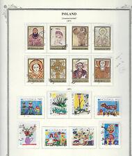 Poland.#1800-07 & 1809-16.Cto.1971.16 Diff Commemoratives