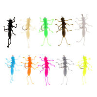 10pc Stonefly Nymphs Flies Fishing Lure Soft Stonefly Bait for Trout Fishing