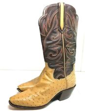 Vintage Paul Bond Ostrich Tall Heel Cowboy Boots (size 6 ? see measurements)