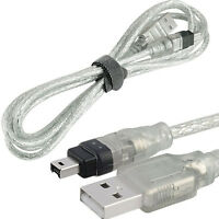 New 5ft USB To Firewire IEEE 1394 4 Pin iLink Adapter Data Cable USA