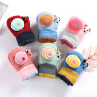 Toddler Baby Thicken Girl Boy Cute Rope Full Finger Warm Knitted Mittens Gloves
