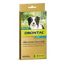 Drontal Chewable 10kg 5pack wormers for dogs
