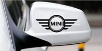 A Pair Amazing Rearview Mirror Car stickers Decals Graphics For Mini (Black)