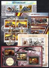 Motos lot de 10 séries oblitérés en feuillet