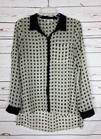 Black Rain Stitch Fix Women's S Small Black Button Long Sleeve Top Blouse Shirt