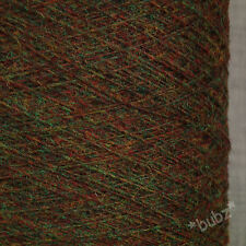 PURE SHETLAND WOOL 2 3 PLY BROWN  RED HEATHER 500g CONE 10 BALLS YARN WEAVE KNIT