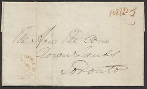 1856 SFL, Renfrew CW to Toronto, PAID '3', Contents, Renfrew CW Basal '3'