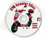 scooter repair service manual gy6 qmb 50 to 150 cc cd ebay