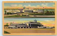 *Terminal Washington National Airport Washington DC Linen Vintage Postcard C49