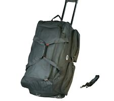 "30"" 50 LB Capacity Rolling Wheeled Duffle Bag  Suitcase Travel Luggage Black NEW"