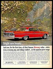 1961 Mercury Monterey Vintage PRINT AD American Red Car Automobile Family 1960s