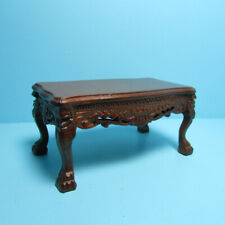 Dollhouse Miniature Wood Lion Leg Coffee Table Walnut Platinum Collection P6010