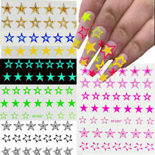 Fluorescence Hollow Star 3D Nail Art Stickers Five-pointed  Star Foil Paper