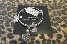 NWT ALEX AND ANI BRACELET ** PEACOCK **   RUSSIAN SILVER  *FREE S&H*