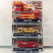 3 Car Set * Case B TEAM TRANSPORT * 2018 Hot Wheels Snake, Mongose & Porsche