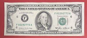 "US Banknotes $100 Bill 1985 ""F6 - Atlanta"" VF-XF (#2575)"