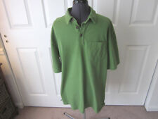 Men's DULUTH TRADING CO Green Cotton Short Sleeve Longtail T M Medium - NICE