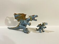 """Toy Major 2006 Elite Dragon Toy 7"""" Mom And Baby Silver Dragons Gorgeous Figures"""