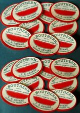 "(18) VINTAGE WATERMELON LABELS 1930s "" SOUTHERN BRAND "" FLORIDA GEORGIA MISSOURI"