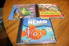 PC Games: Finding Nemo, Jump Start Kindergarten & Scooby Do Phantom Knight (SR)