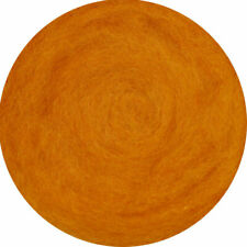 Carded Roving Wool Felting Spinning Craft Hand Wet Needle VK2010 - Dark Orange