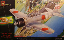WWII JAPANESE A6M2 ZERO FIGHTER 1:48 SCALE PEGASUS E-Z SNAP PLASTIC MODEL KIT