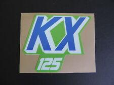 1988 1989 KAWASAKI KX 125 GAS TANK DECAL AHRMA VINTAGE MOTOCROSS