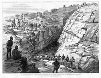 KHARTOUM EXPEDITION HISTORY, GAKDUL WELLS ON DESERT MARCH, SOLDIER PASSING WATER
