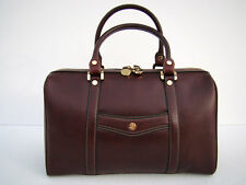 GOLDPFEIL BRAND NEW RARE LADIES BURGUNDY LEATHER CITY BAG HANDBAG - FROM GERMANY