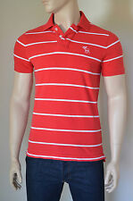 NUOVO Abercrombie & Fitch Bartlett POND POLO RED STRIPE M RRP £ 68