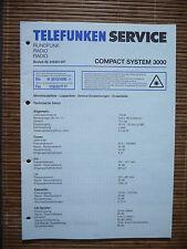 Service Manual für Telefunken Compact System 3000,ORIGINAL