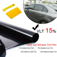 AU New Car Home Window Tint Film Black Roll 15% VLT 760mm*6m Tinting Tools Kit