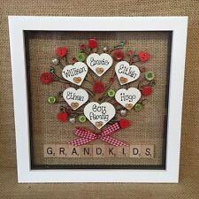 Personalised Box Frame Grandchildren Grandparents Nana Grandma Mum Birthday Gift